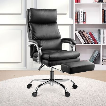 Neader Ergonomic Computer Chair Black Pu Leather High Back Office Executive Task